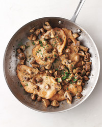 chicken mushrooms pan