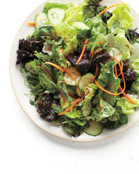 salad mix carrot cucumber balsamic vinaigrette