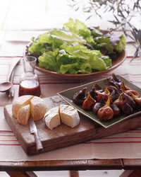 Oven-Poached Figs/Organic Lettuces with Fig Vinaigrette