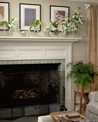 Arrangements for the Living Room Mantel