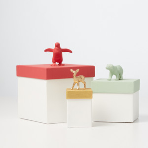 Painted Animal Gift Boxes