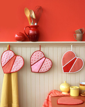 Heart-Shaped Pot Holders