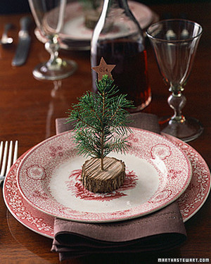 The best handmade christmas decorations martha stewart Christmas place setting ideas