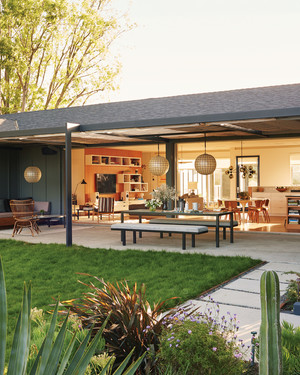 Take a Look Inside This  Stunning LA Ranch House