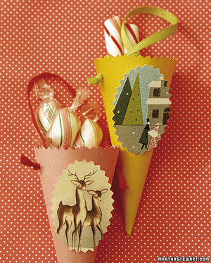 Recycled Christmas Card Crafts Martha Stewart