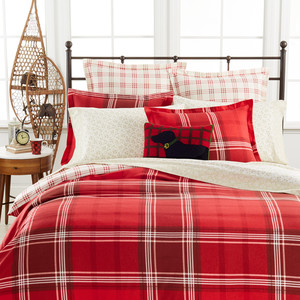 Sleigh Ride Plaid Flannel Bedding