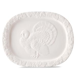 Martha Stewart Collection Embossed Turkey Platter