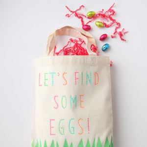 Stenciled Easter Tote