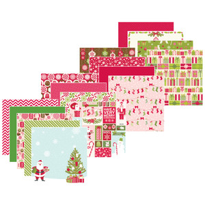 Peppermint Winter Paper Pad for Scrapbooks