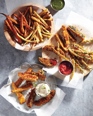 Vegetable Fries: So Much Better than Plain Old Potato; We Have Dipping Sauces Too!