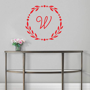 Monogrammed Wall Decal