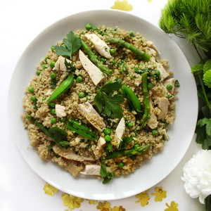 Warm Quinoa and Chicken Salad