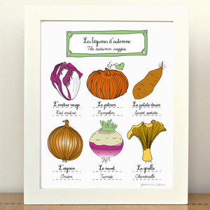 Fall Vegetables Print