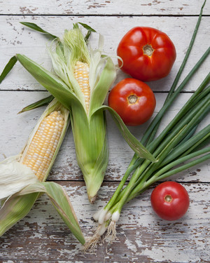 What to Make with: Tomatoes, Corn, and Scallions