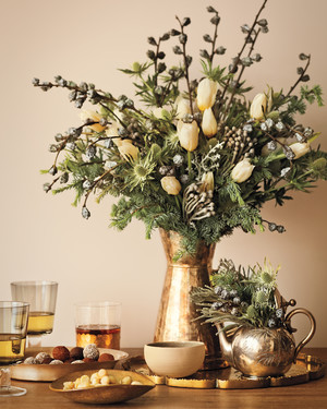 holiday home decor: a touch of shimmer | martha stewart
