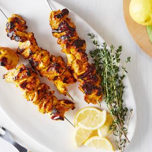 kebabs saffron yogurt chicken