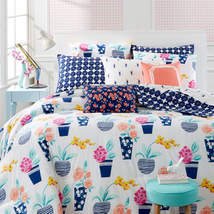 Whim by the Martha Stewart Collection Pretty in Pots Comforter Set