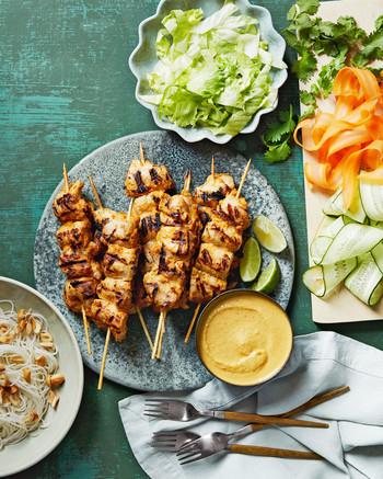 ingredients cashew chicken kebabs