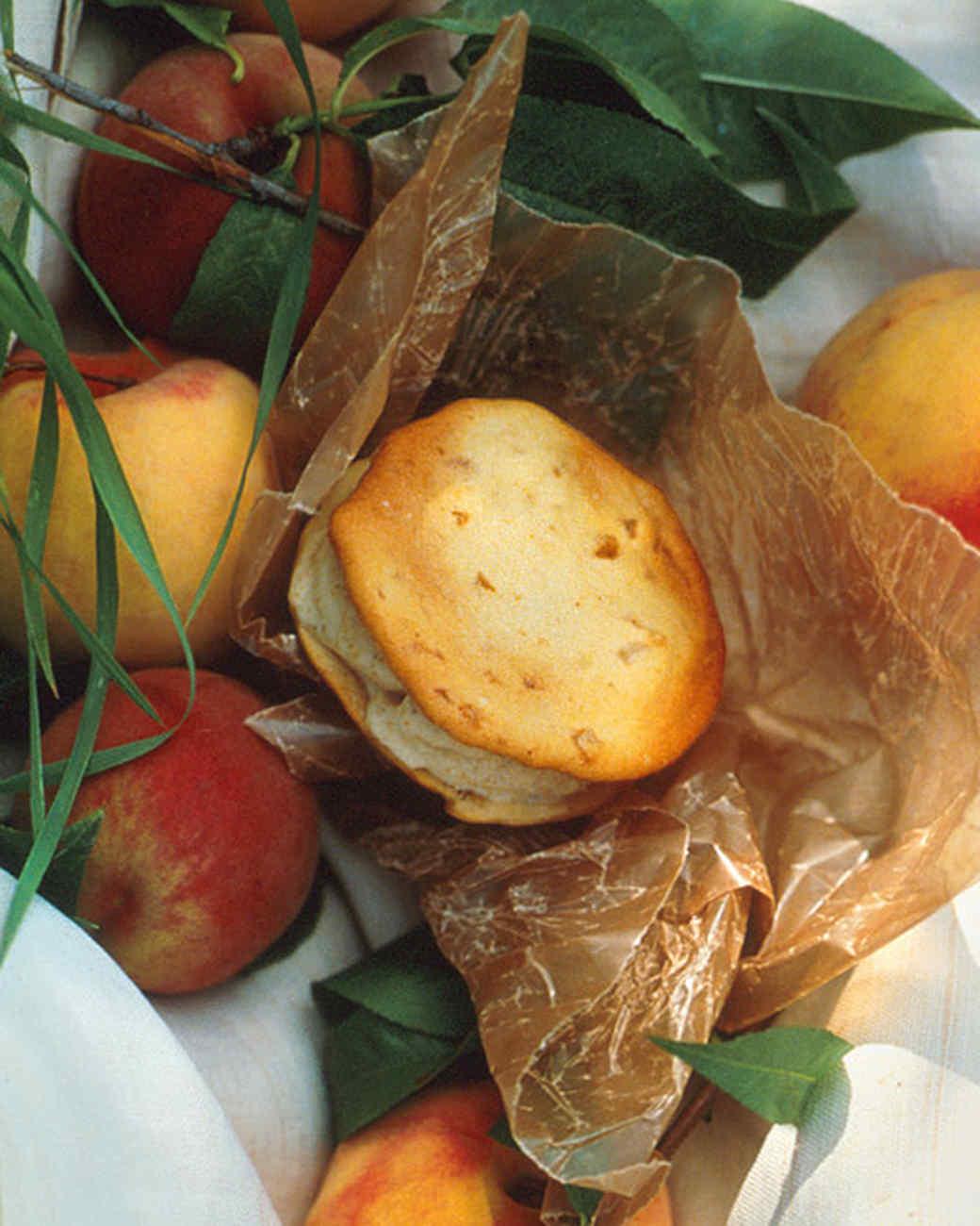 Peach Ice Cream for Ginger Crisp Ice Cream Sandwiches Recipe | Martha ...