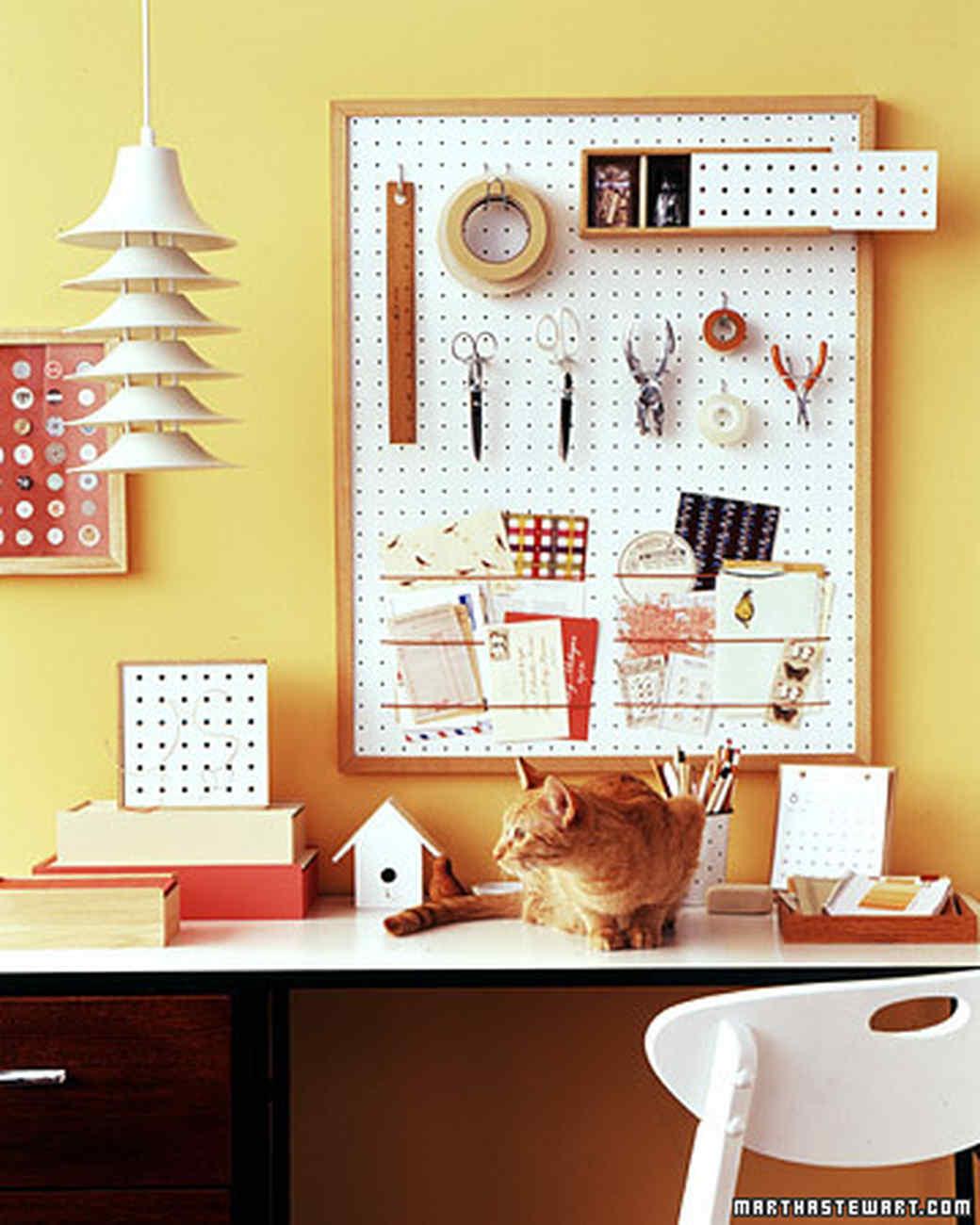 Construct An Office Organizer Out Of Pegboard Martha Stewart