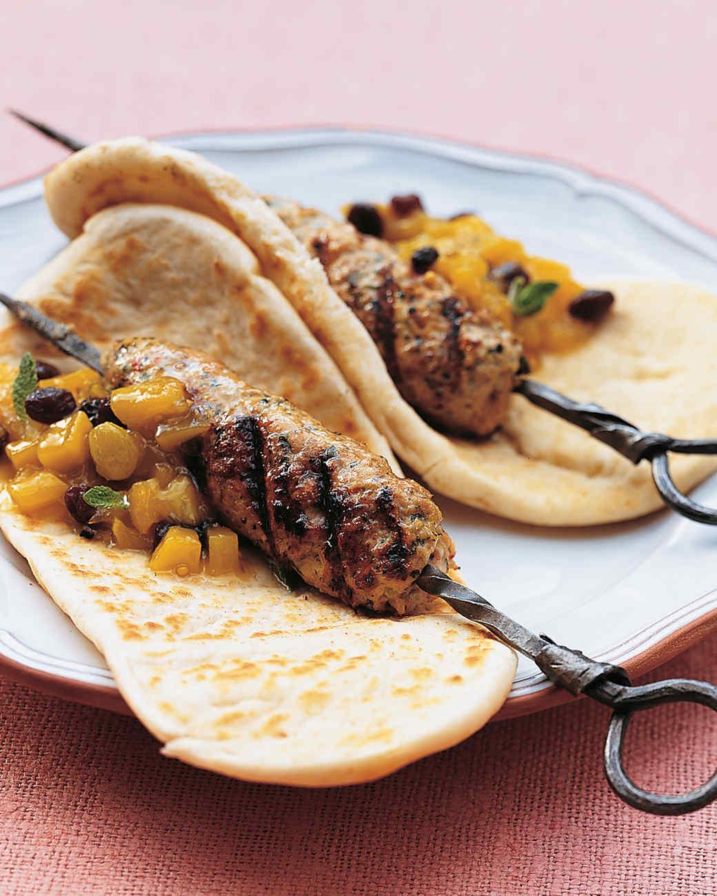 Chicken and Pork Seekh Kebabs
