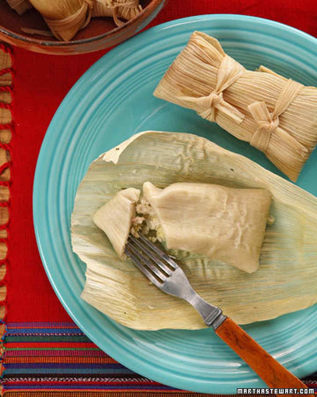 Chicken Tamales Recipe: Chicken And Green Salsa Tamales Recipe & Video