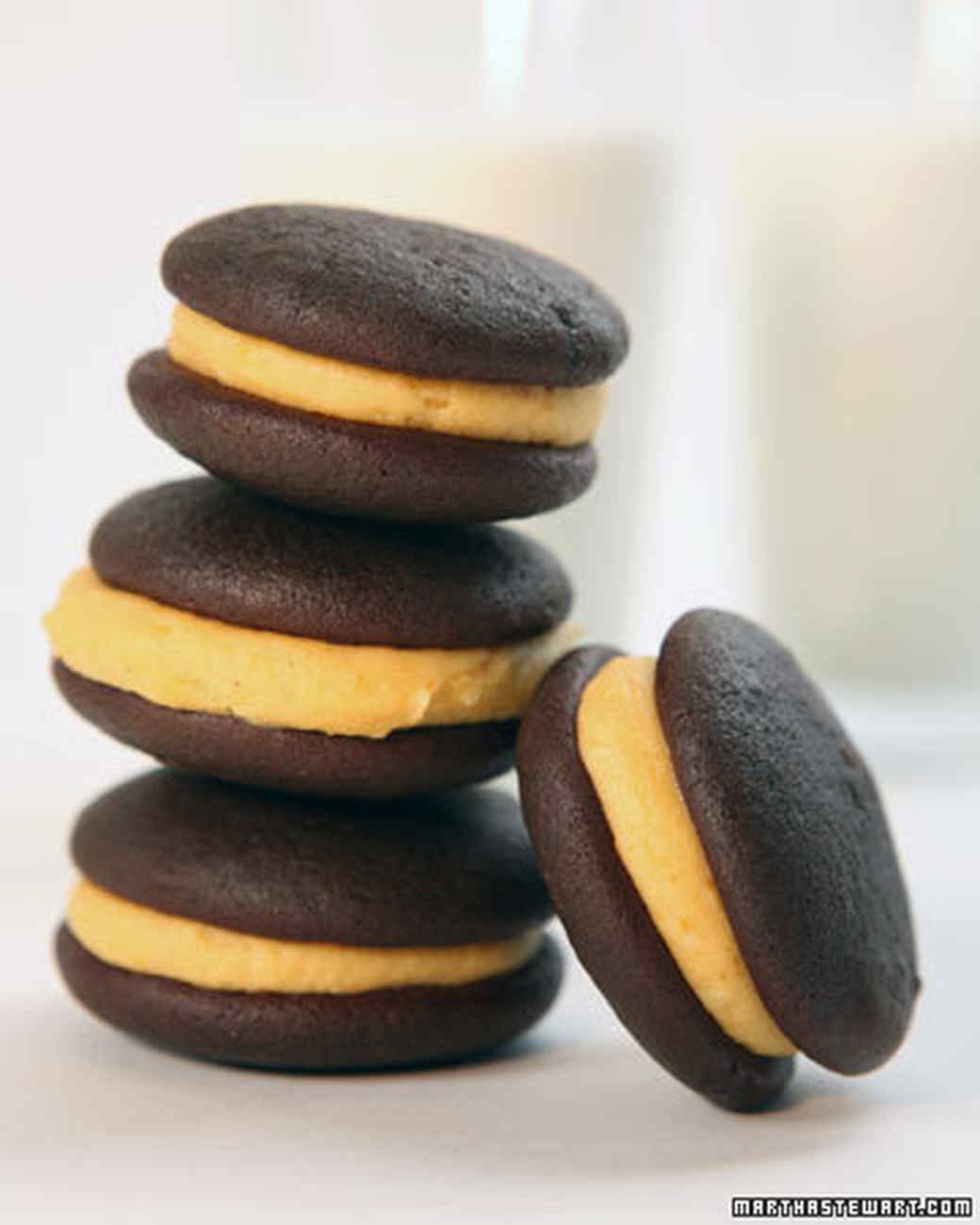 Mini Pumpkin Whoopie Pies Recipe Amp Video Martha Stewart