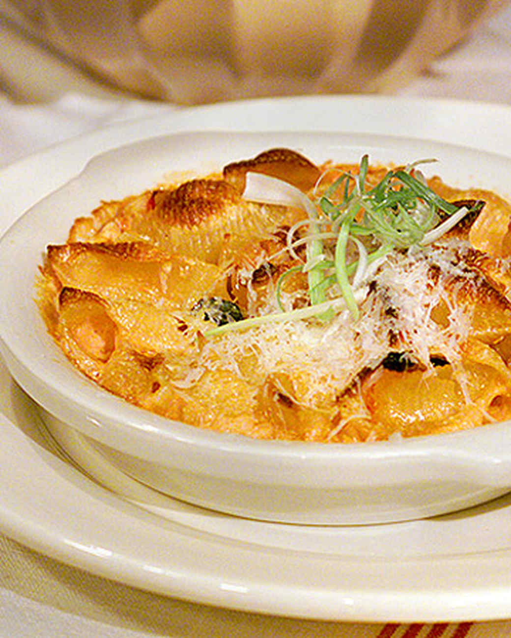 Baked Pasta with Tomato, Cream, and Five Cheeses Recipe ...