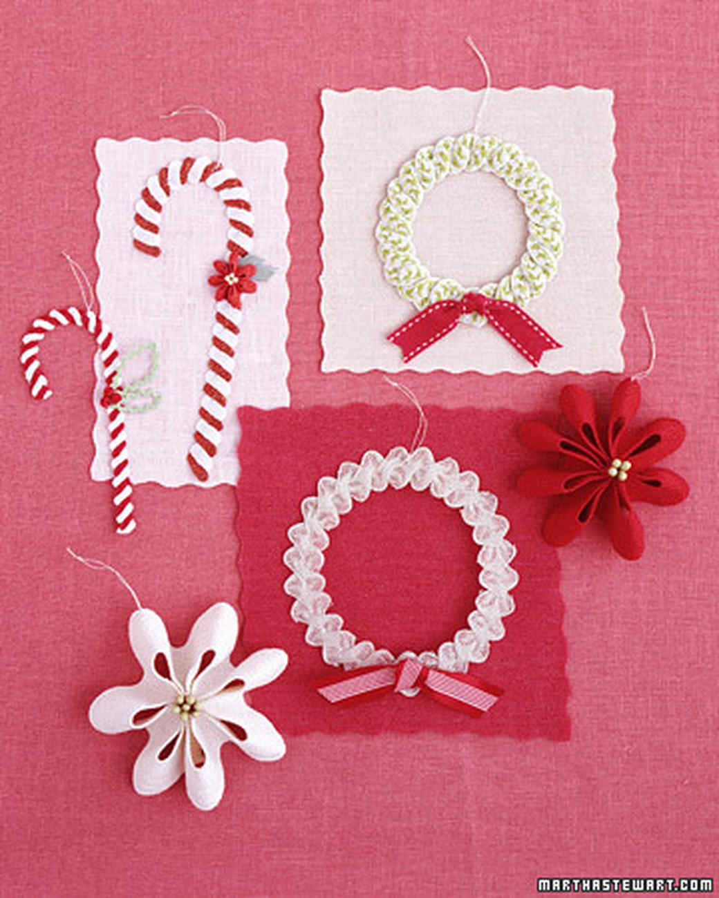 Rickrack christmas crafts martha stewart for Martha stewart xmas crafts