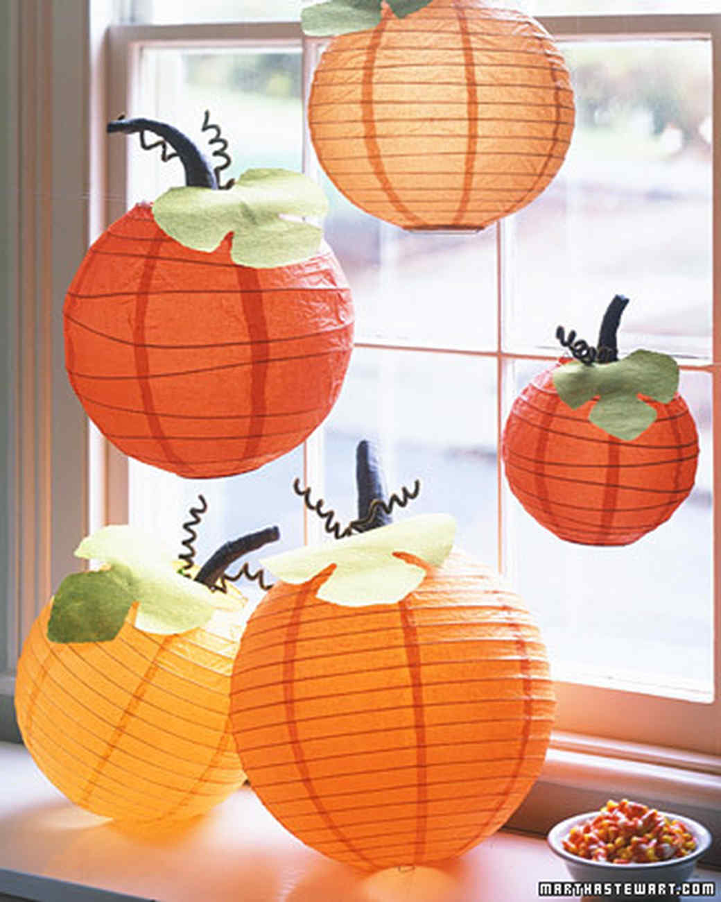 Pumpkin lanterns martha stewart - Decoration halloween a fabriquer ...