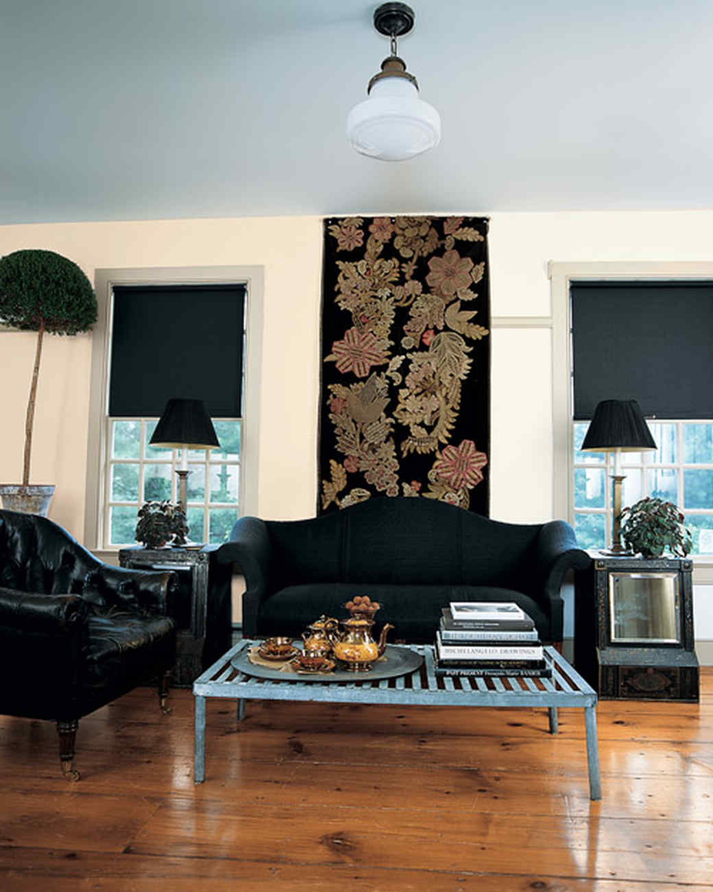 Living Rooms With Black Furniture Black And White Rooms Martha Stewart