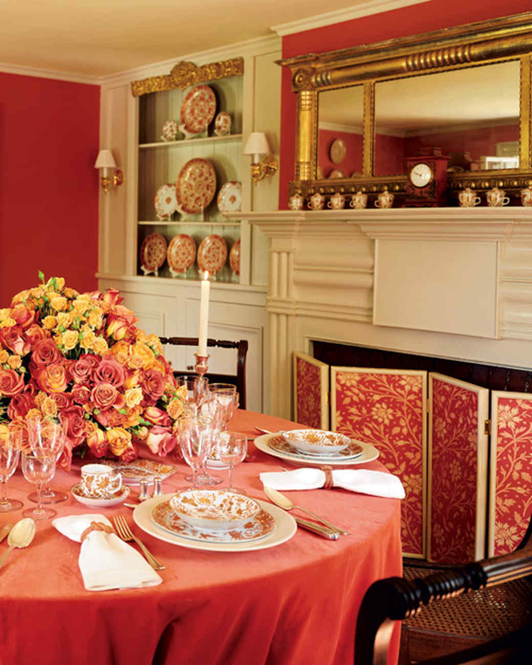 Red Dining Room Colors red rooms | martha stewart