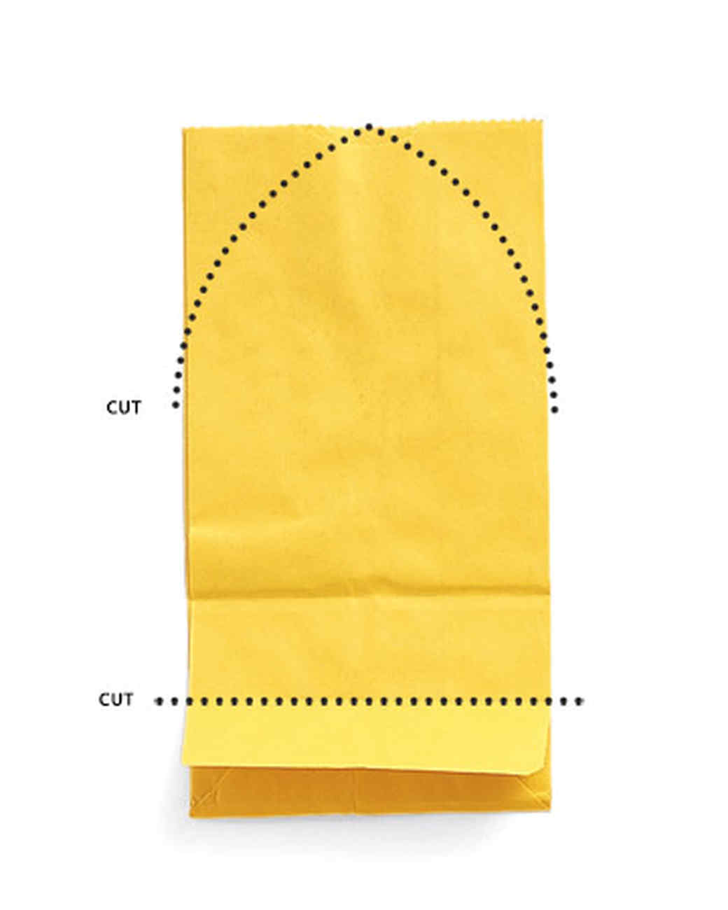Paper bag yellow - Materials Gusseted Paper Bags