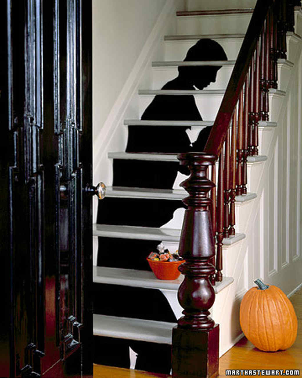 Staircase Silhouette Halloween Decorations