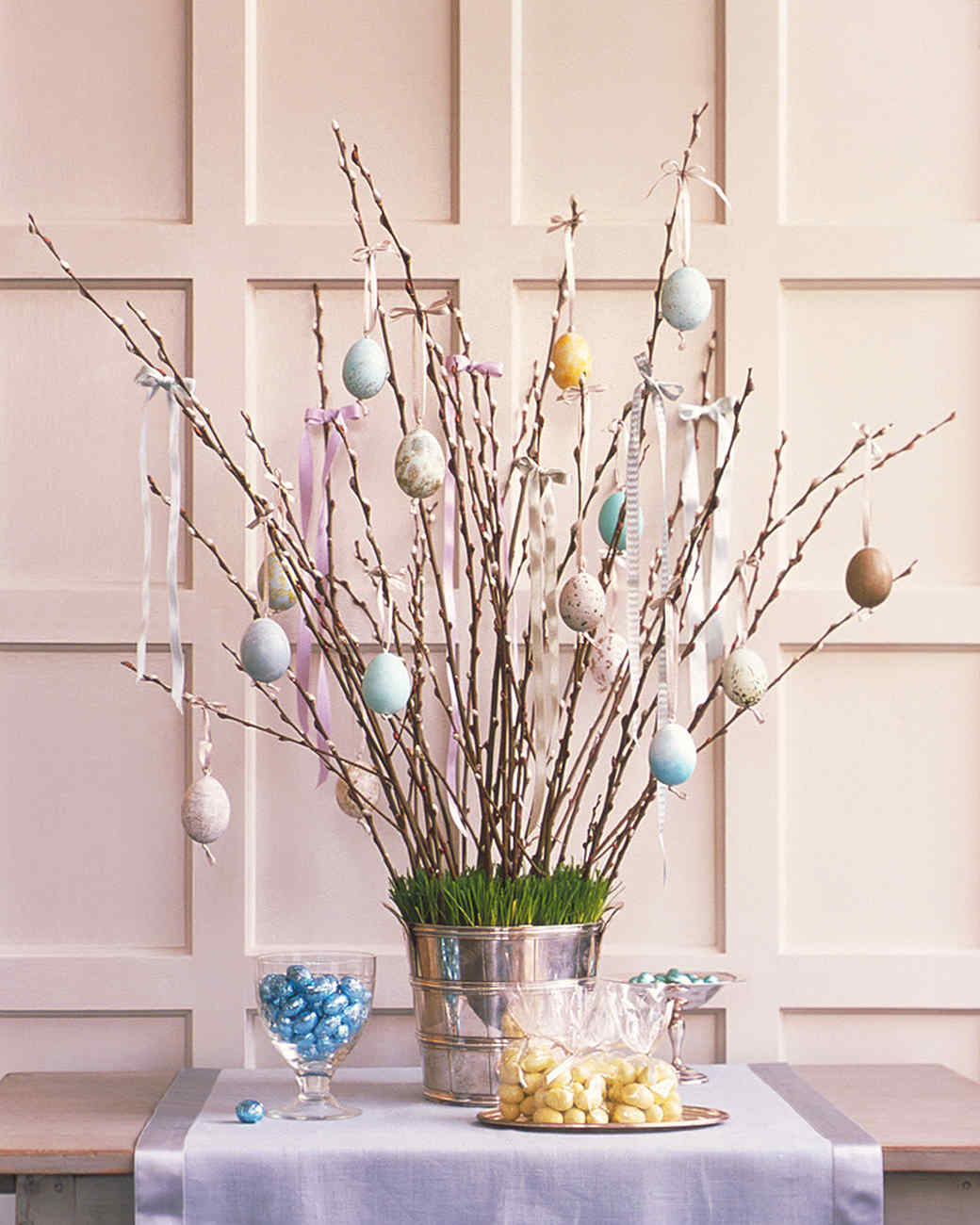 Easter egg tree martha stewart for Home easter decorations