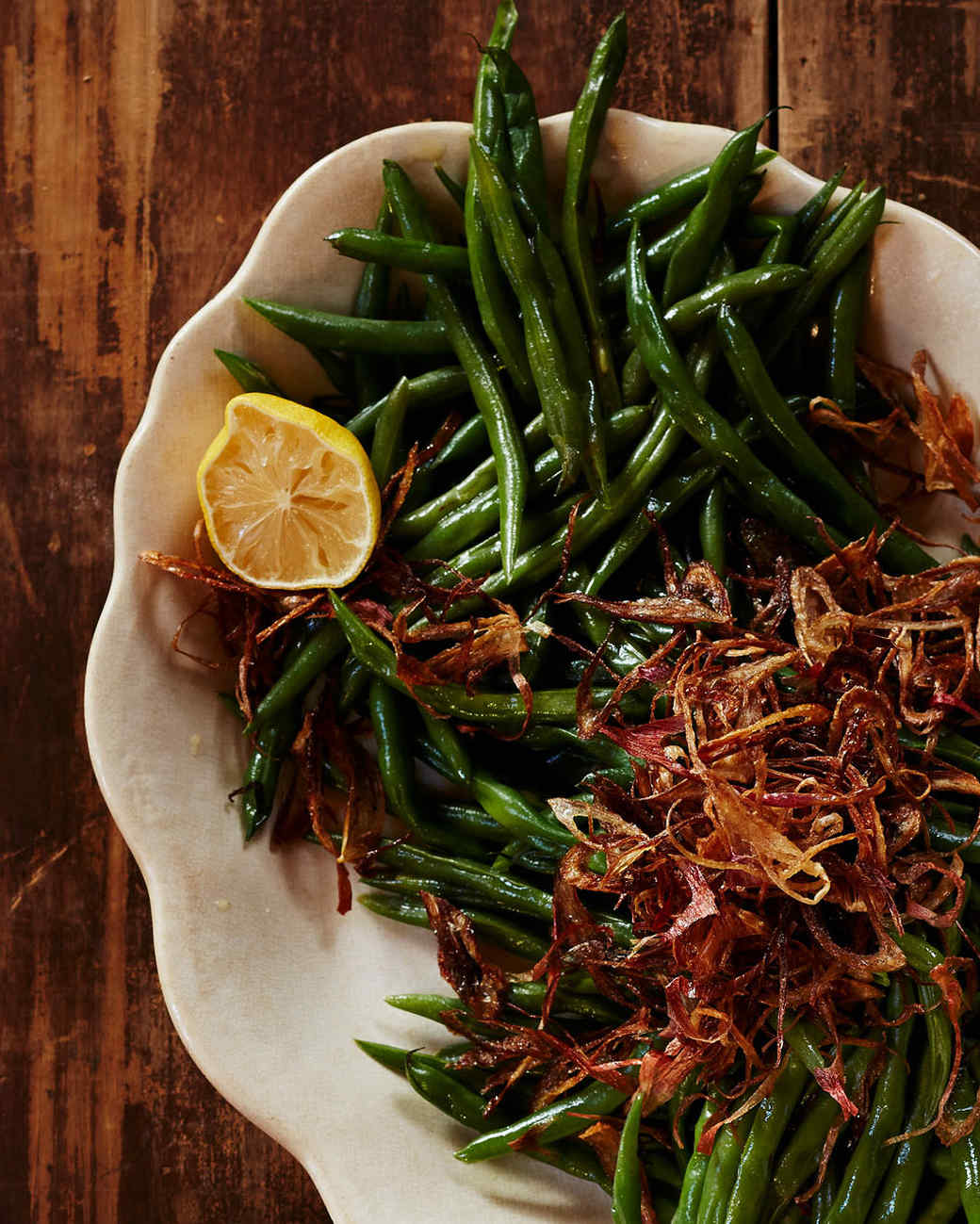 Buttered Green Beans with Shallots and Lemon
