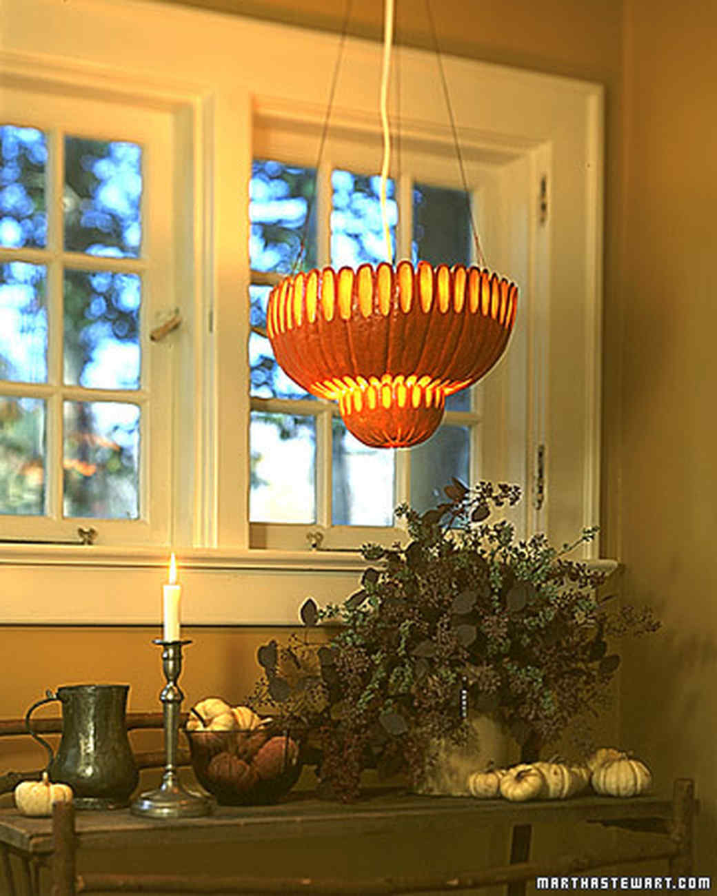 Pumpkin Chandeliers: Tiffany Lamp