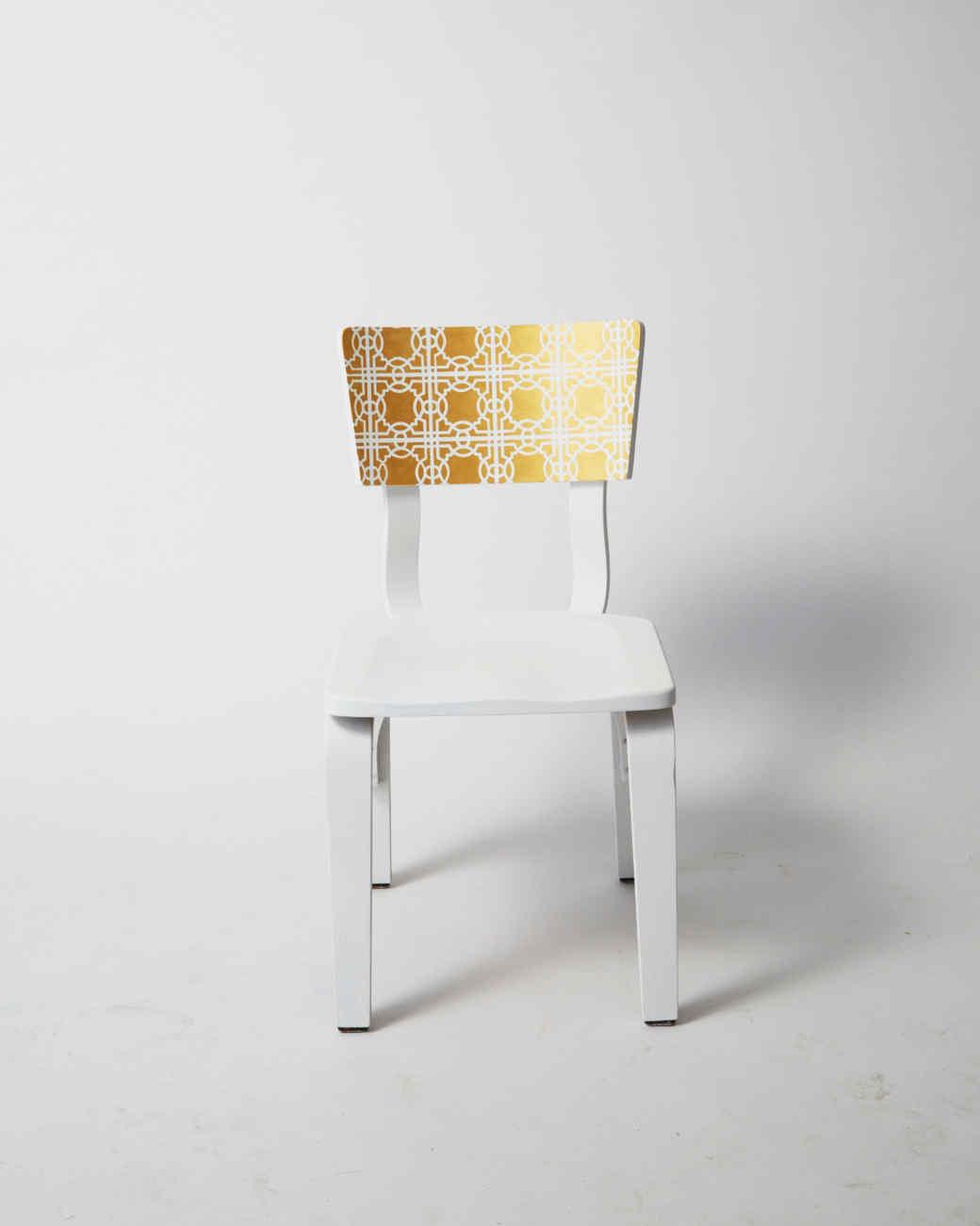 Golden Stenciled Chair