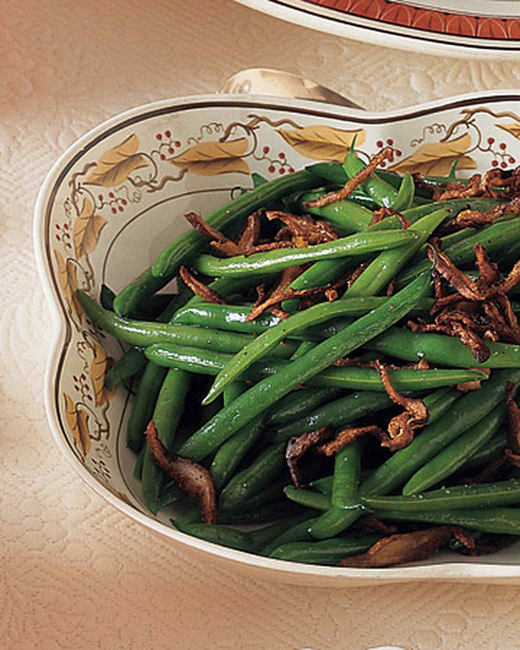 Green Beans with Panfried Shiitake Mushrooms