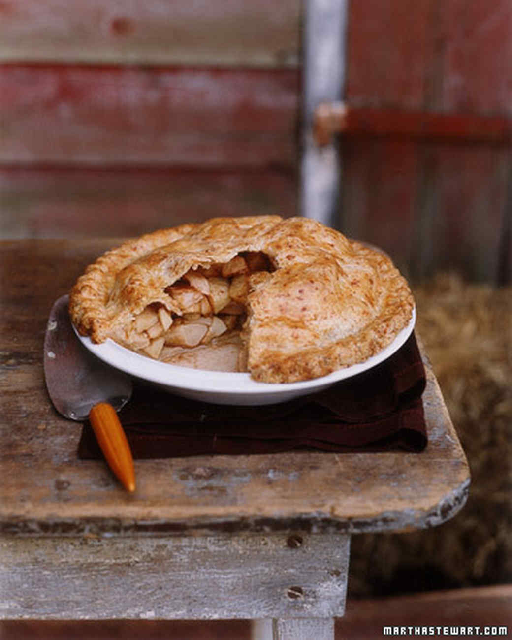 Martha Stewart Old Fashioned Bottom Crust Apple Pie