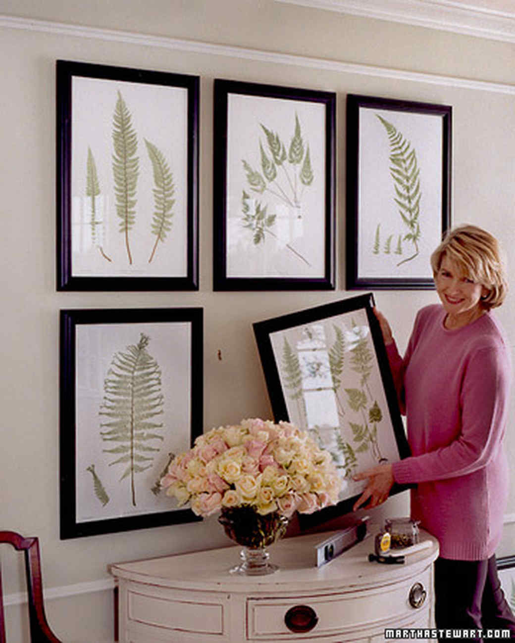 How To Hang Multiple Pictures On Wall photo projects on display | martha stewart