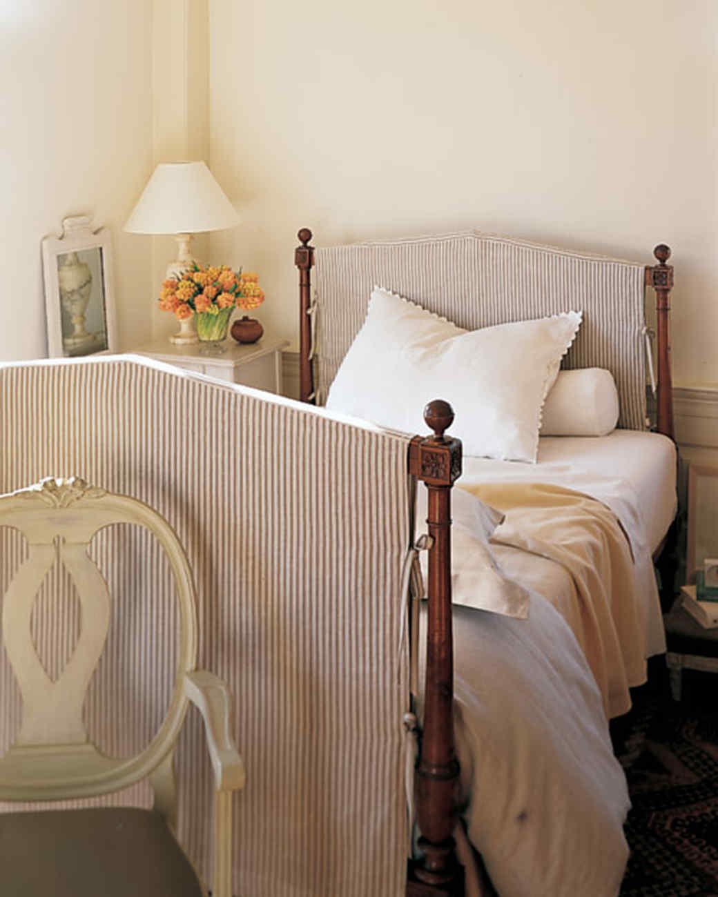 diy headboard ideas give your bed a boost martha stewart. Black Bedroom Furniture Sets. Home Design Ideas