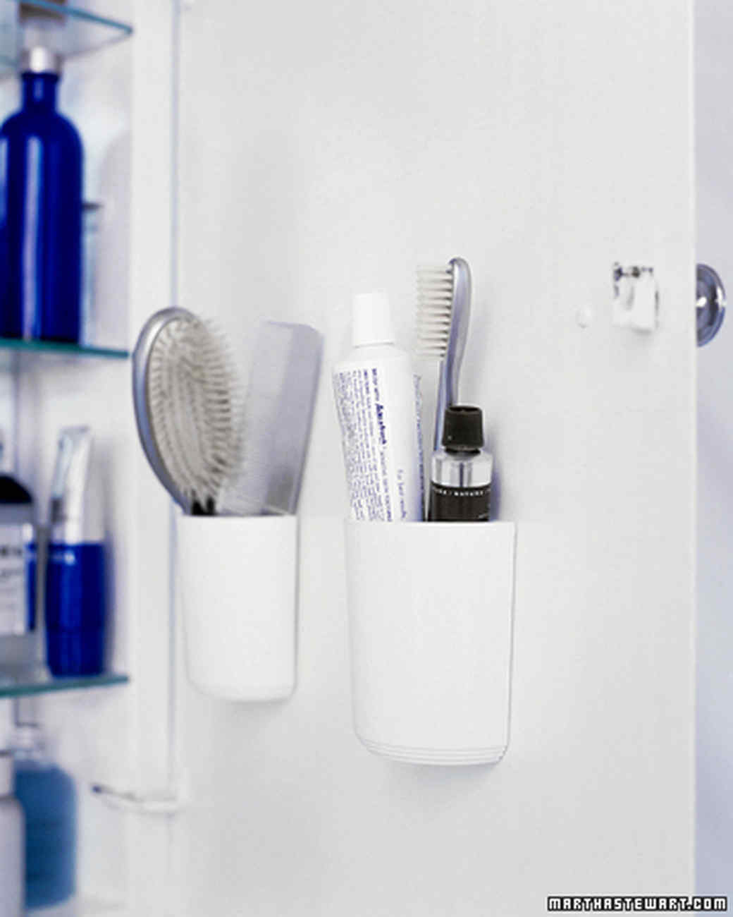 Bathroom storage organization martha stewart for Bathroom organizers