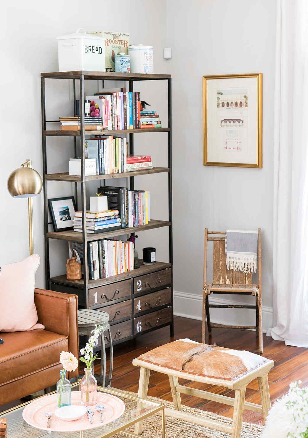 joy the baker living room shelf display