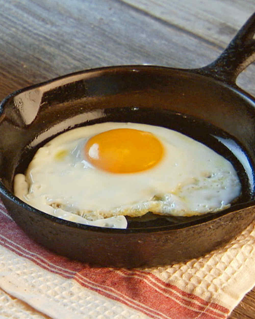 Perfect Fried Egg Every Time Recipe & Video | Martha Stewart