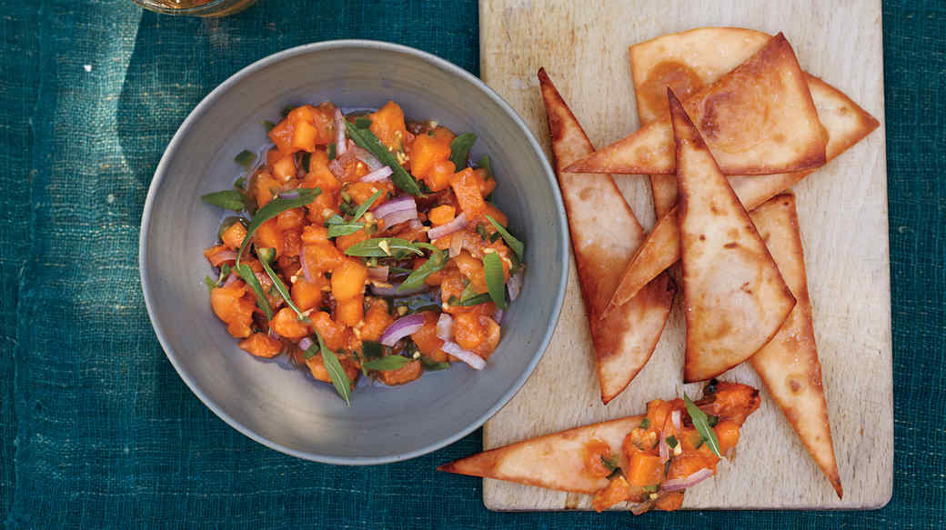 Apricot Salsa with Lemon Verbena