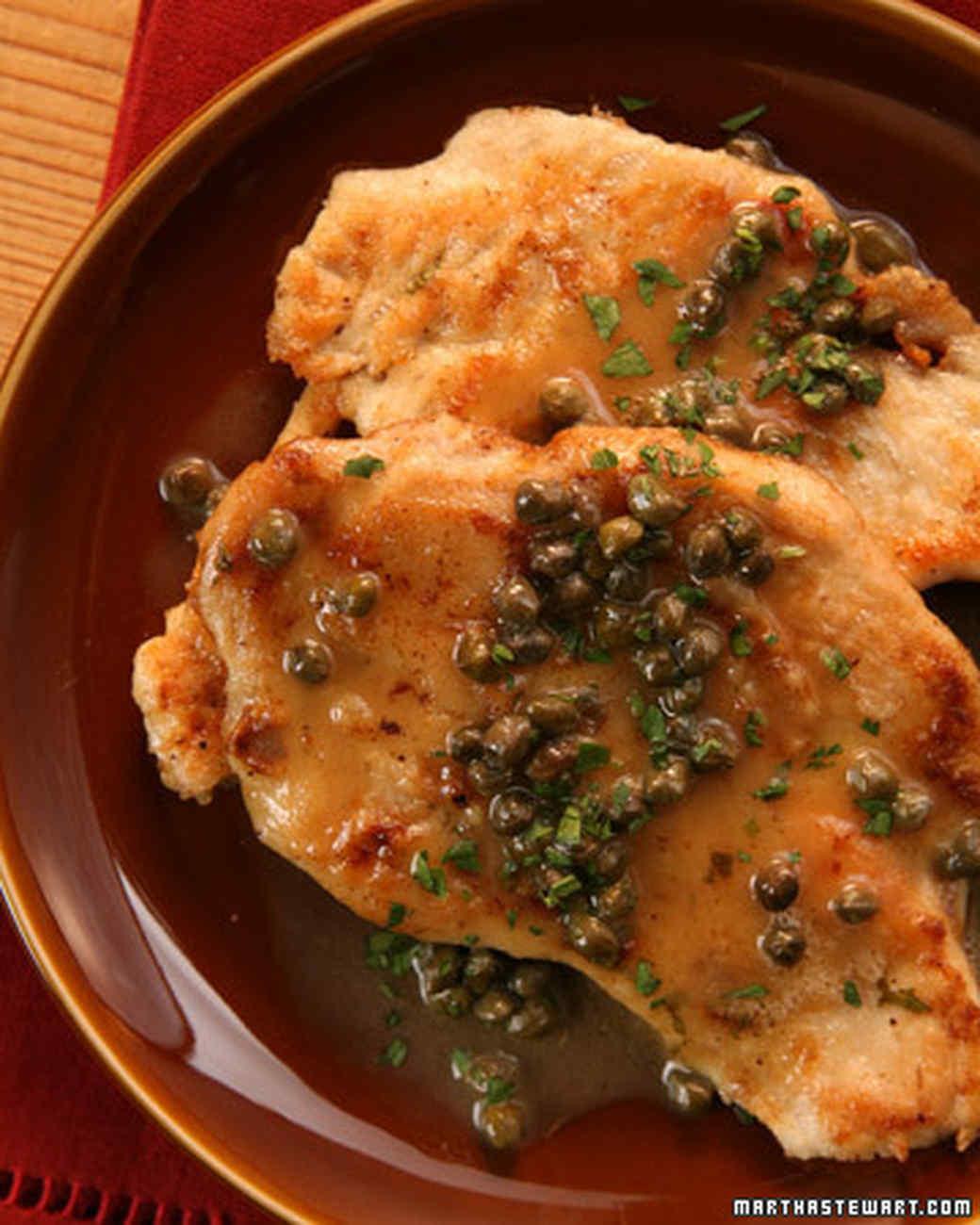 Chicken scallopine recipe video martha stewart Olive garden chicken piccata recipe