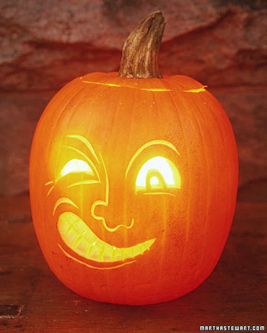 Jack the winker how to light a pumpkin martha stewart
