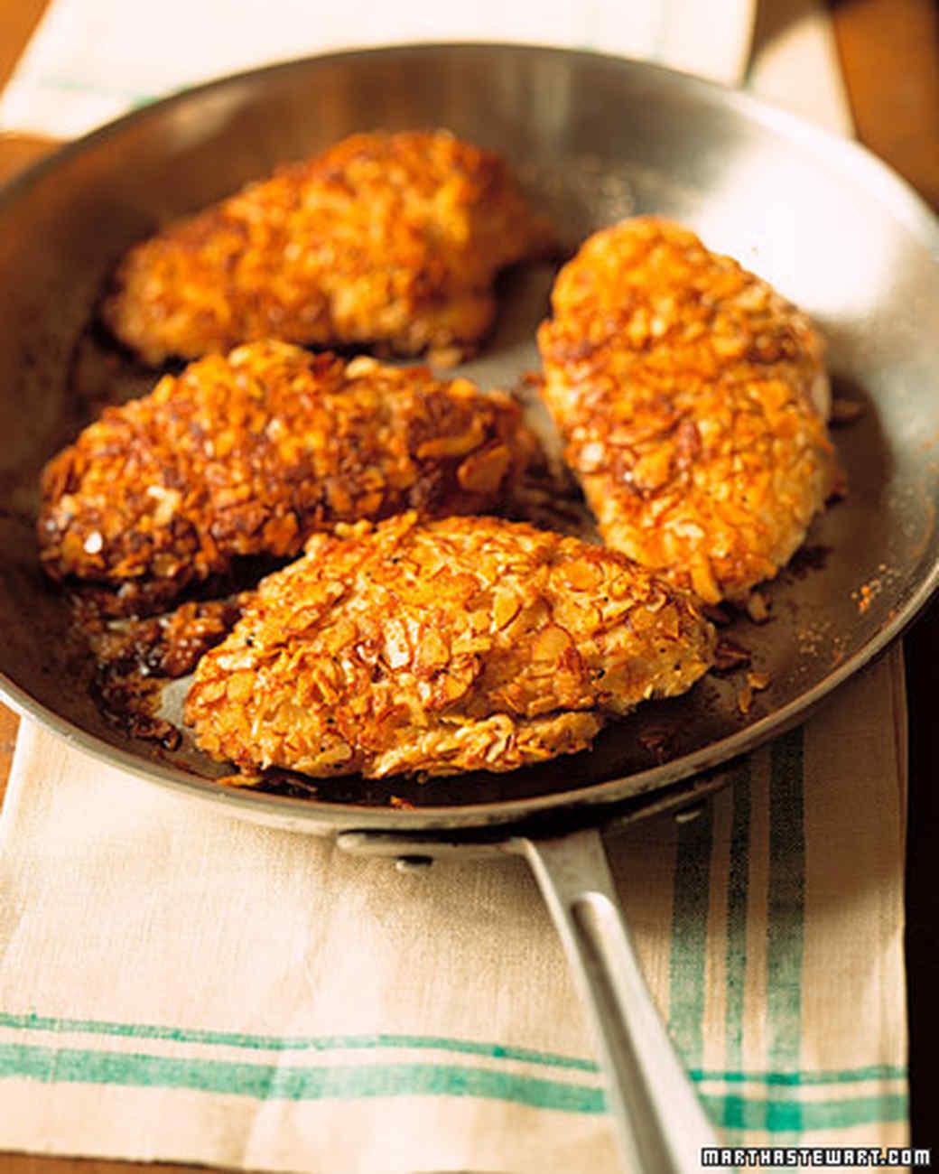 Chicken ground almonds recipe