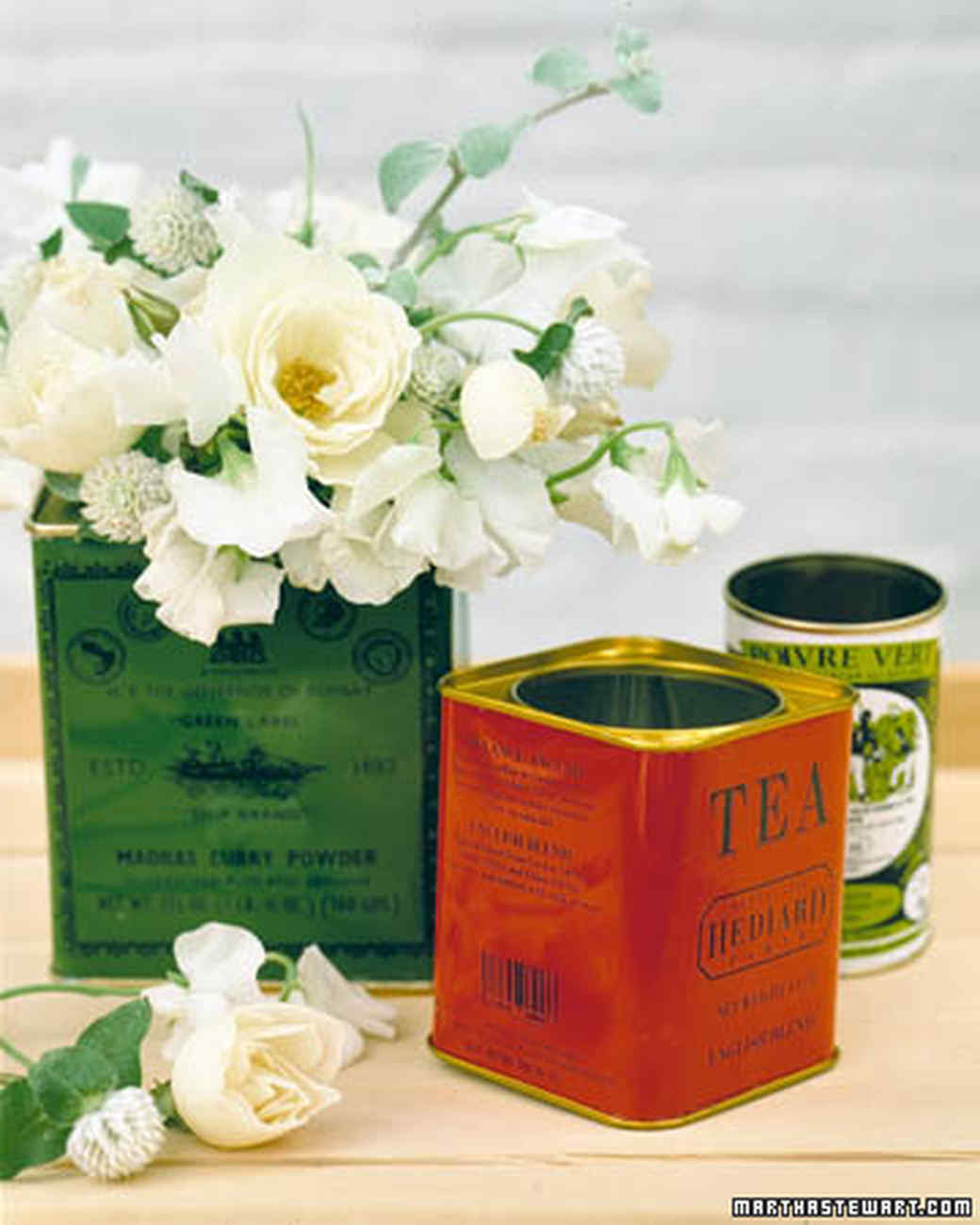 Tea Tin Vases